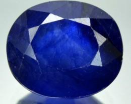 4.28 Cts Deep Blue Sapphire Oval Cut Thailand Gem