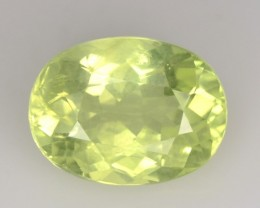 1.47 Cts NATURAL CHRYSOBERYL - LEMON GREEN - OVAL - SRI LANKA
