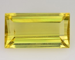 8.39 Cts NATURAL APATITE - CANARY YELLOW - BAGUETTE Cut - BRAZIL
