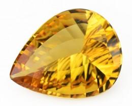 ~PRECISION CUT~ 5.84 Cts Natural Citrine - Golden Orange - Fancy - Brazil G