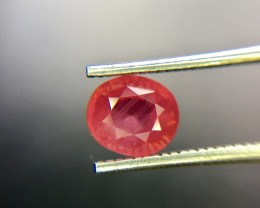 1.25 Crt Unheated Natural Ruby Faceted Gemstone 2