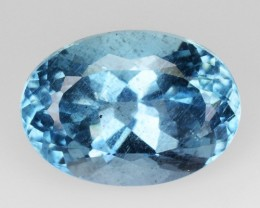 1.85 Cts NATURAL AQUAMARINE - SANTA MARIA BLUE - OVAL - BRAZIL