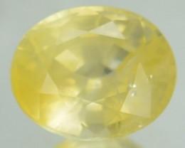 1.07 Cts Natural Corundum Yellow Sapphire Oval