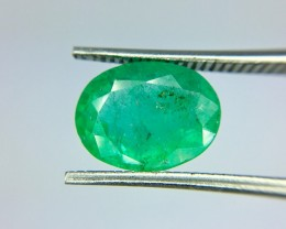 2.35 CRT Natural Zambian Emerald No Oil faceted Gemstone L2