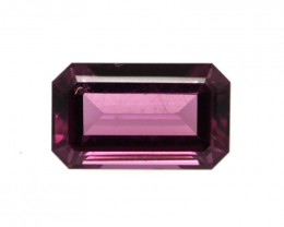 2.08cts Natural Rhodolite Garnet Emerald Cut