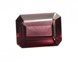 1.94cts Natural Rhodolite Garnet Emerald Cut