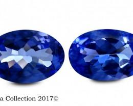 1.04 Ct Natural Certified Fair Oval Shape Purplish Blue Tanzanite