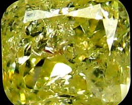 0.18 Ct Natural PGTL Certified Fancy Light Yellow Diamond