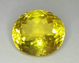 10.10 Crt Natural Lemon Quartz Faceted Gemstone (R 84)