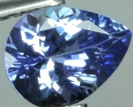 1.15CTS GLITTERING LUSTER PEAR COLLECTORS GEM NATURAL BLUE TANZANITE