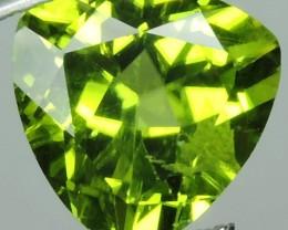 3.00 cts High Best Natural Apple Green Trillion Pakistan Peridot