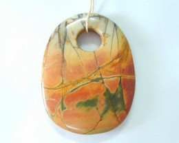 78ct Natural Multi-Color Picasso jasper Pendant Beads(17102012)