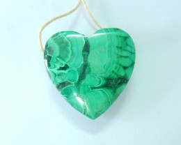 Beautiful!!! 58ct Natural Malachite Heart Necklace Pendant(17102017)