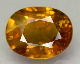 GiL Certified 1.24 ct Cognac Sapphire Unheated SKU-7