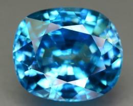 Gil Cert 7.22 ct Blue Zircon Cambodia SKU.3