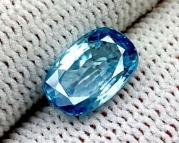 2.90 CT NATURAL BLUE  ZIRCON BEST QUALITY GEMSTONE IGC63