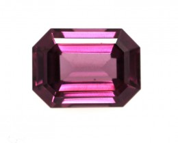 1.41cts Natural Rhodolite Garnet Emerald Cut
