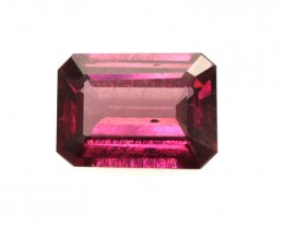 1.50cts Natural Rhodolite Garnet Emerald Cut