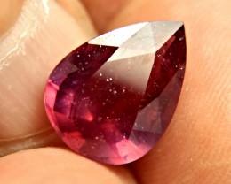 9.93 Carat Fiery Ruby Pear - Beautiful