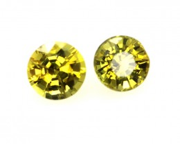 0.82cts  Matching Pair Natural Gold Sapphires 2pcs Beautiful Accent Stones