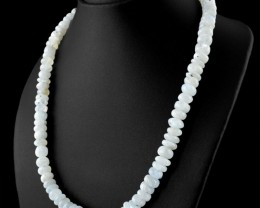Genuine 409 cts Moonstone Beads Necklace