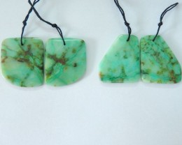 Big Promotion!!! Sell 2 pairs Natural Chrysocolla Freeform Fashion Earrings