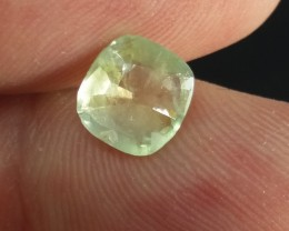 Certified 2.12ct Green Ceylon Sapphire , 100% Natural Untreated Gems