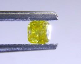 0.18ct Fancy Vivid Yellow Diamond, 100% Natural Untreated Gemston