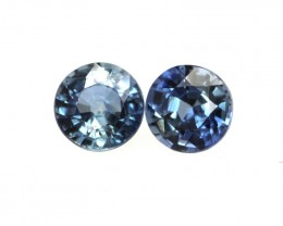0.76cts  Matching Pair Natural Blue Sapphires 2pcs