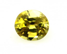 0.44cts Natural Australian Yellow Sapphire Oval Shape