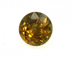 0.39cts Natural Australian Gold Parti Sapphire Round Shape