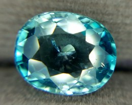 3.75 Crt Natural Blue Zircon Faceted Gemstone (R 85)