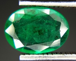 1.10 Crt Natural Zambia Emerald Faceted Gemstone (85)