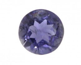 1.27cts Violetish/Blue Iolite Round Cut