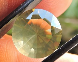 5.30ct VVS FACETED BRAZILIAN LEMON CITRINE GEMSTONE CUT IN THE U.S MJ133