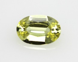 0.42cts Natural Australian Yellow Sapphire Heart Shape