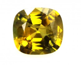 0.83cts Natural Australian Gold Sapphire Cushion Shape