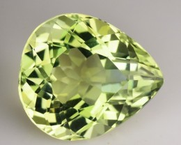 ~CERTIFIED~ 6.26 Cts Natural Greenish Yellow Topaz Pear Cut Brazil Gem