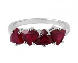 Ruby Composite 925 Sterling silver ring #422