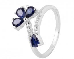 Iolite 925 sterling silver ring #36494