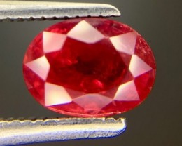 1.47 Ct Natural Ruby Awesome Color ~ Mozambique. kl4