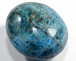 575ct Blue Apatite Crystal Mineral Palm Stone - Madagascar (STBAPAA33)