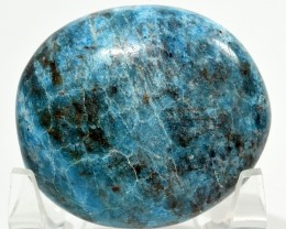 525ct Blue Apatite Crystal Mineral Palm Stone - Madagascar (STBAPAA34)