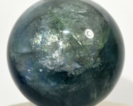 "2.1"" Rainbow Blue Green Fluorite Crystal Sphere Ball China STBFS-CA226"