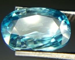 3.20 Crt Natural Blue Zircon Faceted Gemstone (86)