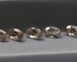 SUNSTONE FACETED OVAL SHILLER TYPE