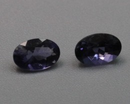 IOLITE OVAL SHAPED PAIR