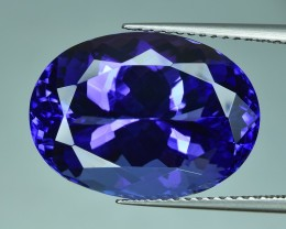14.64 Cts  Beautiful Attractive Top Color Natural Tanzanite