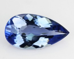 1.70 Cts Natural Blue Beryl (Aquamarine) Pear Brazil Gem
