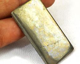 Genuine 46.00 Cts Rectangular Shape Golden Hematite Cab